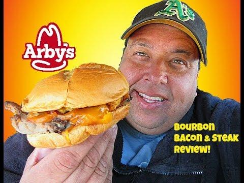 Arby's® New Bourbon Bacon & Steak Sandwich REVIEW!