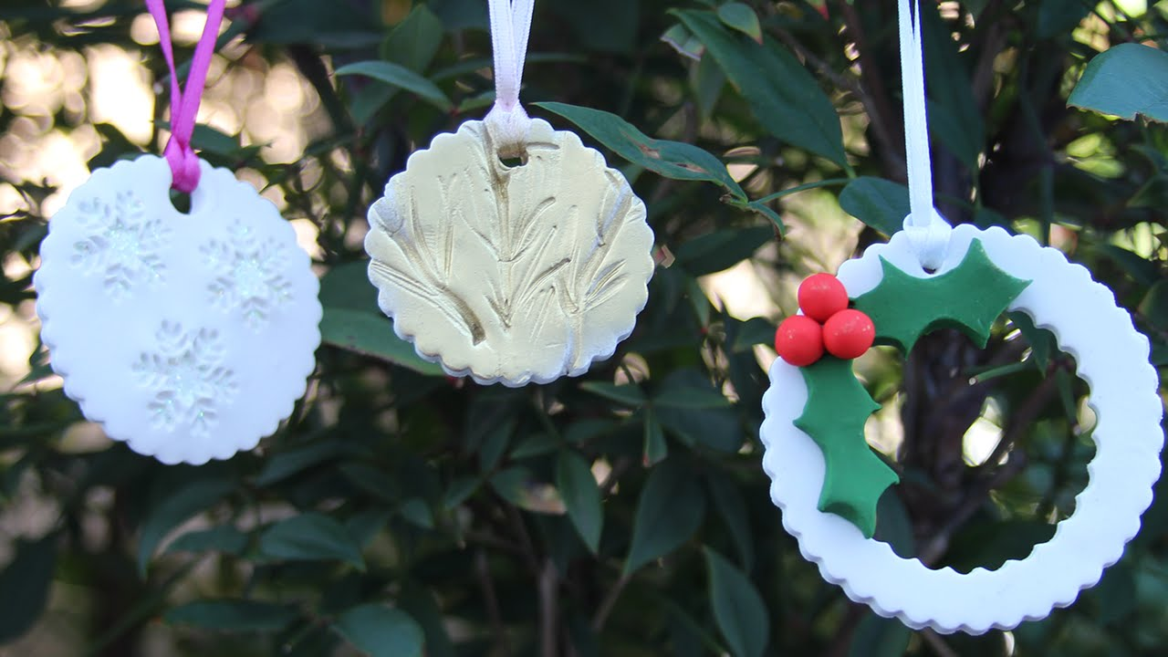Polymer Clay Christmas Tree Decorations.3 Easy Diy Christmas Ornaments Polymer Clay Tutorial