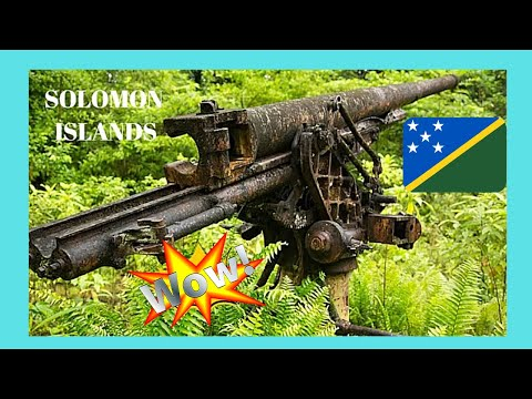 SOLOMON ISLANDS, EXPLORING WW2 JAPANESE GUNS' SITE in the forests of NEW GEORGIA ISLAND