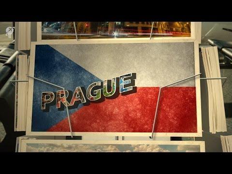 postcards Prague Czech Republic