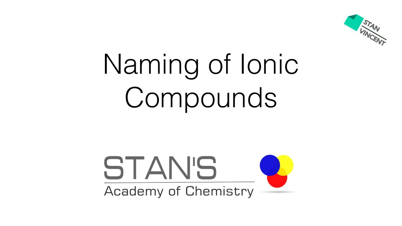 Naming Of Simple Ionic Compounds Rules Examples Practice