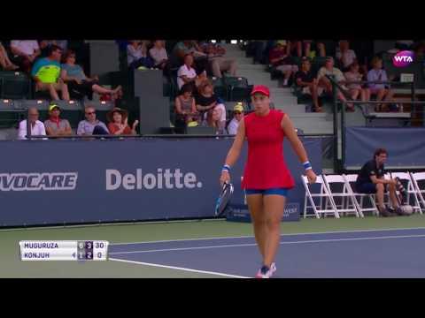 2017 Bank of the West Classic Quarterfinals | Garbine Muguruza vs Ana Konjuh | WTA Highlights