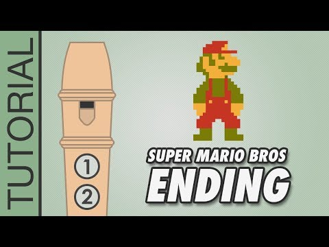 Super Mario Bros - Ending - Recorder Notes Tutorial