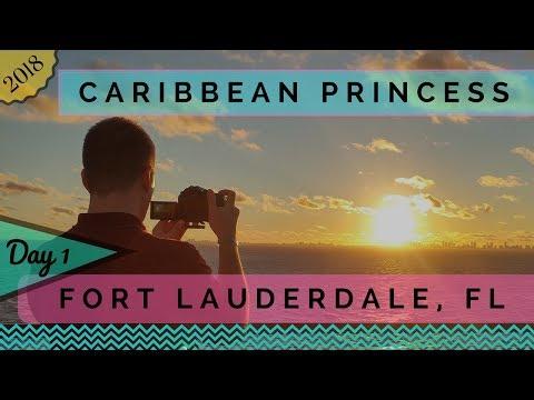Caribbean Princess - 2018 Panama Canal Cruise Day 1 - Departing Fort Lauderdale
