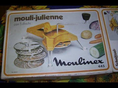 Funktionsprüfung- MOULINEX Mouli Julienne Moulinette 445 Schnitzel-Mouli zum Reiben