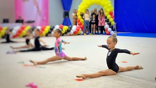 ВЛОГ Соревнования по художественной гимнастике! Маша на своем первом турнире! 2.11.19