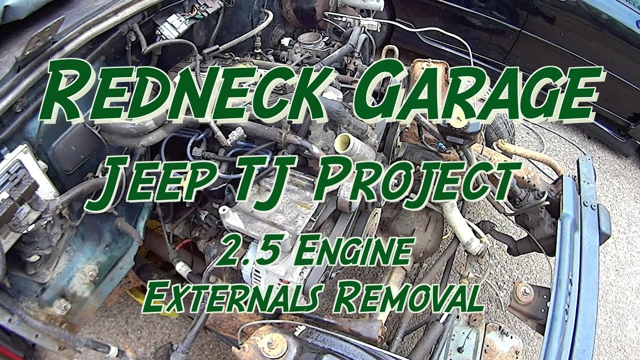 1995 Jeep Wrangler Engine Diagram Electrical Schematics Jk 2 5 4 0 Rebuild Series Removing Externals Youtube Serpentine Belt