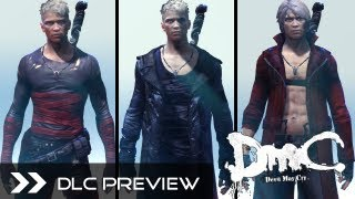 dmc devil may cry 2013 all dlc costumes skins for xbox360 ps3 pc neo dark classic dante hd