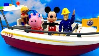 Świnka Peppa, Myszka Miki i Strażak Sam ☺ Rejs Motorówką ☺ Bajka dla dzieci PO POLSKU