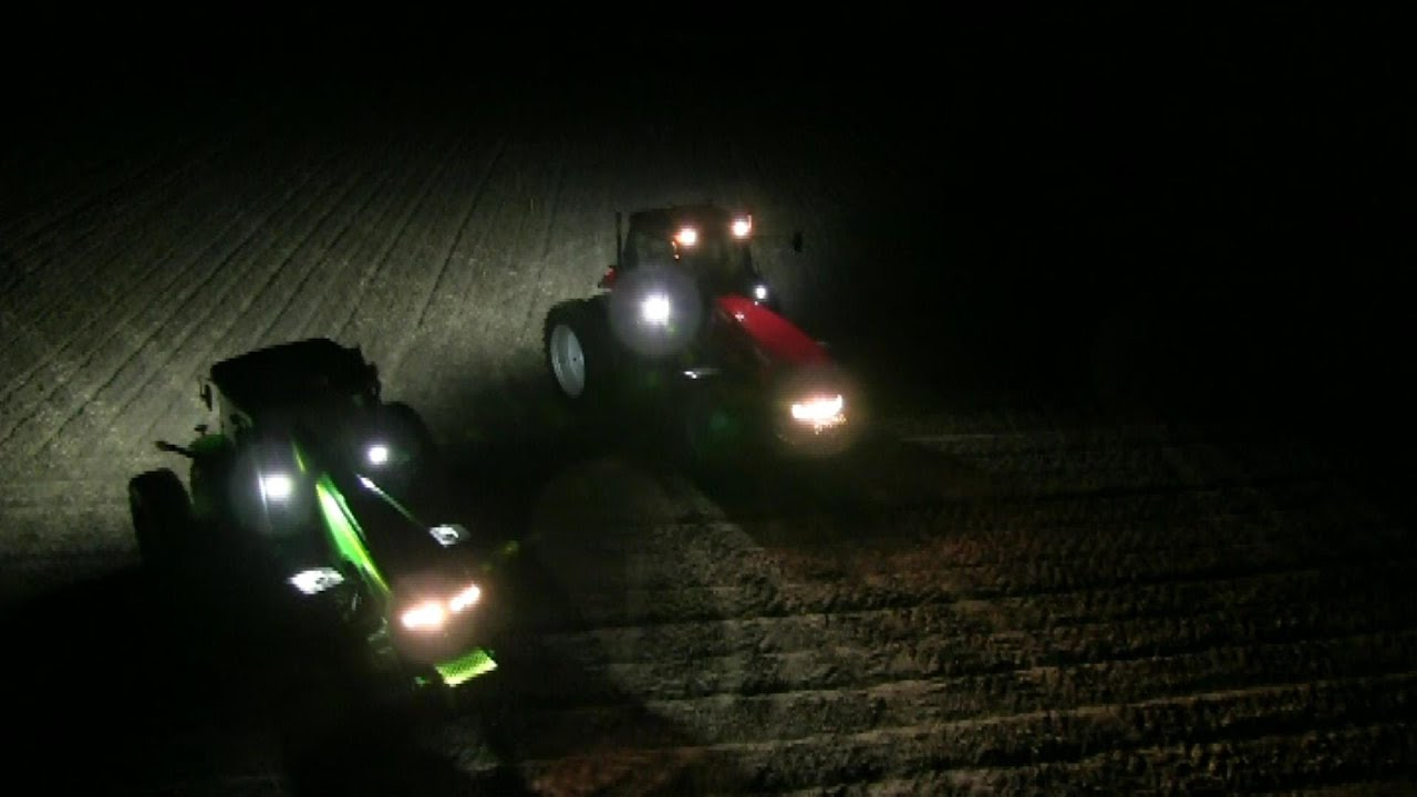 Tractor Front Lights : Tyri led tractor upgrade youtube