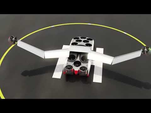 Летающий электромобиль вертикального взлета и посадки