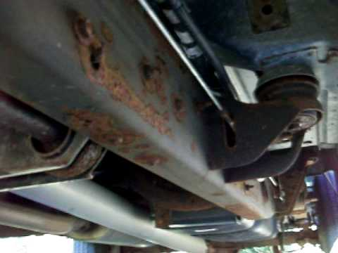 It's Rusted! Underside of the 2001 GMC Sierra - YouTube