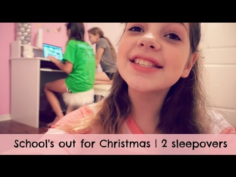 School's out for Christmas | Hope's 11th Birthday | 2 Sleepovers | White Elephant | Target Shopping