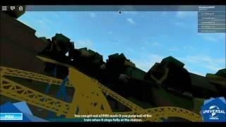 Disco stu es Coaster POV (Universal Studios roblox)