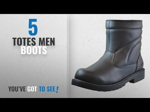 Top 10 Totes Men Boots [ Winter 2018 ]: Totes Mens Waterproof Snow Boot, Black, 10
