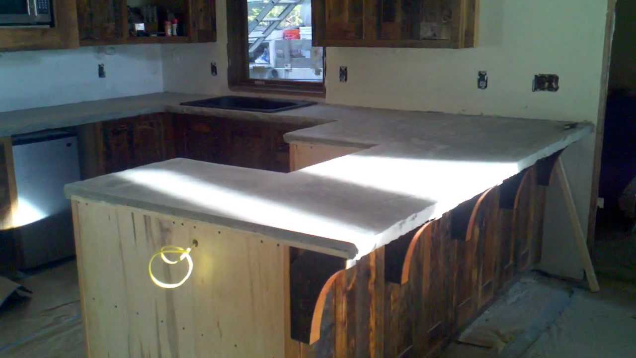 Chiseled Edge Concrete Counter Tops