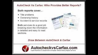 Autocheck vs Carfax - Which Vehicle History Report Is Better?