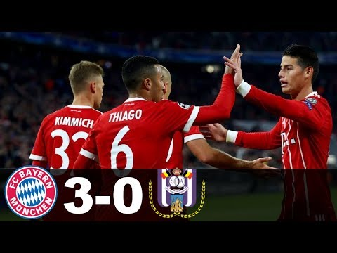 Bayern Munich Vs Anderlecht 3-0 Goals And Highlights 12.09.2017 Champions League 2017/18 Highlights