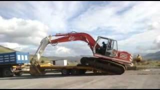 escavatori  o&k  rh6  e  camion  iveco  330-30