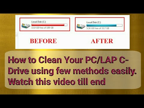 How to clean your PC/LAPTOP C-DRIVE using few methods