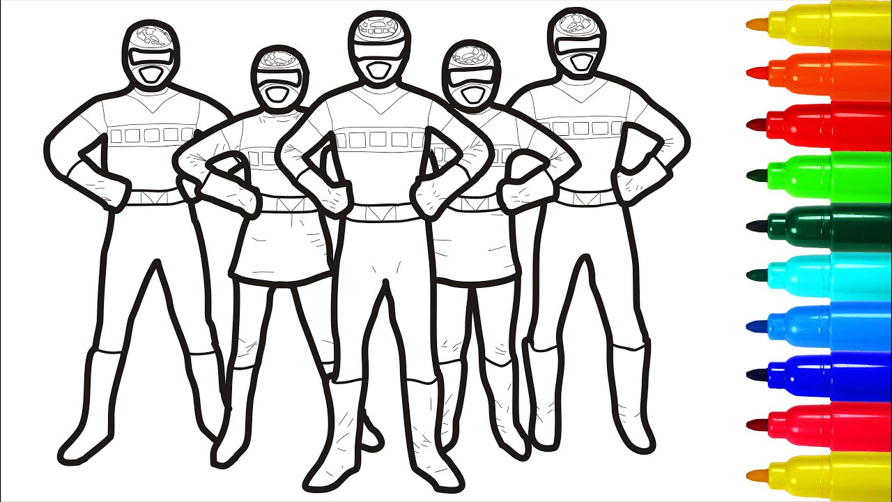 Power Rangers General Coloring Pages Youtube