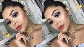 Cobalt Blue Makeup Tutorial | Daisy Marquez