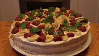 Domowy przepis, Smaczny i łatwy Tort z gotowych blatów i kremów.   Jak upiec tort bez pieczenia :-)