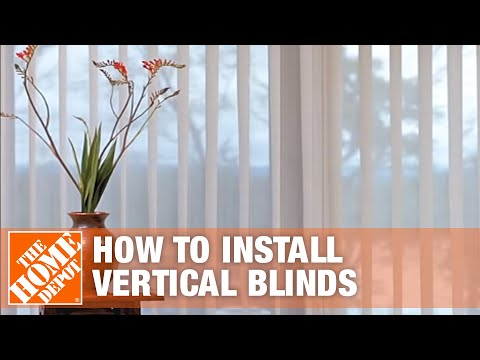 How To Install Outside-Mount Vertical Window Blinds | The Home Depot
