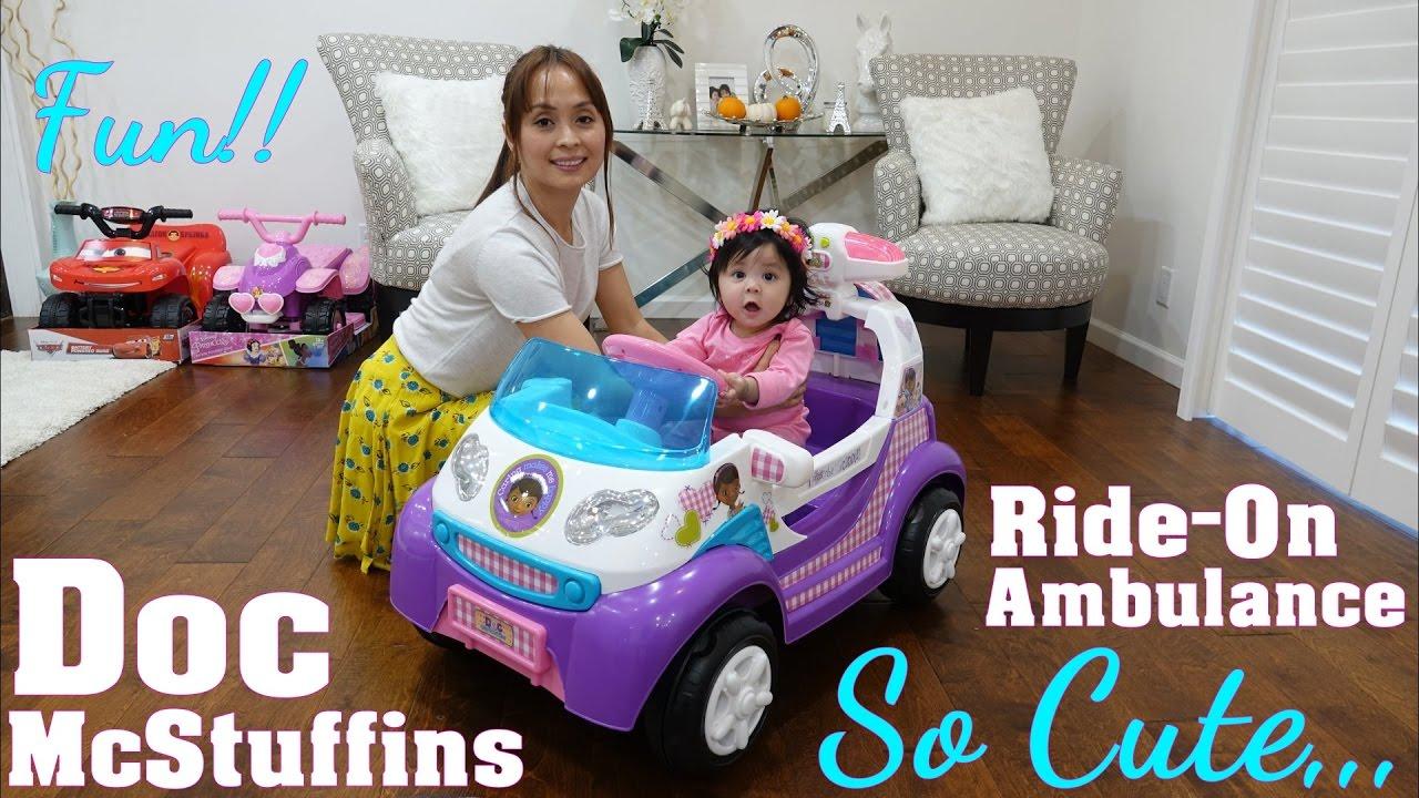 Power Wheels Ride On Car Disney Doc Mcstuffins Ambulance