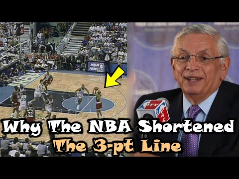 The Truth Behind The NBA Shortening The 3-PT Line In The 1990s