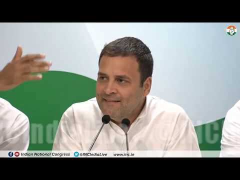 LIVE: AICC Press Briefing By Congress President Rahul Gandhi on CBI Rafale Gate