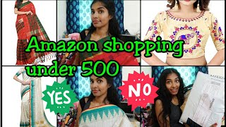 Amazon shopping|unboxing|Is it worth?|sarees under 500|Saree blouse & curtain from Amazon|Asvi