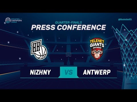 Nizhny Novgorod v Telenet Giants Antwerp - Press Conference - Basketball Champions League 2018