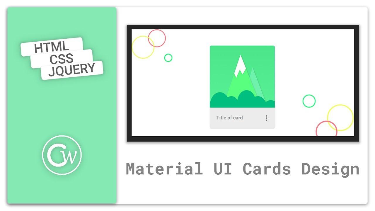 ui card design using html  css  card design htmlcss