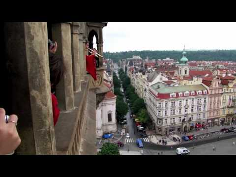 Prague Clock Tower Trumpeteer