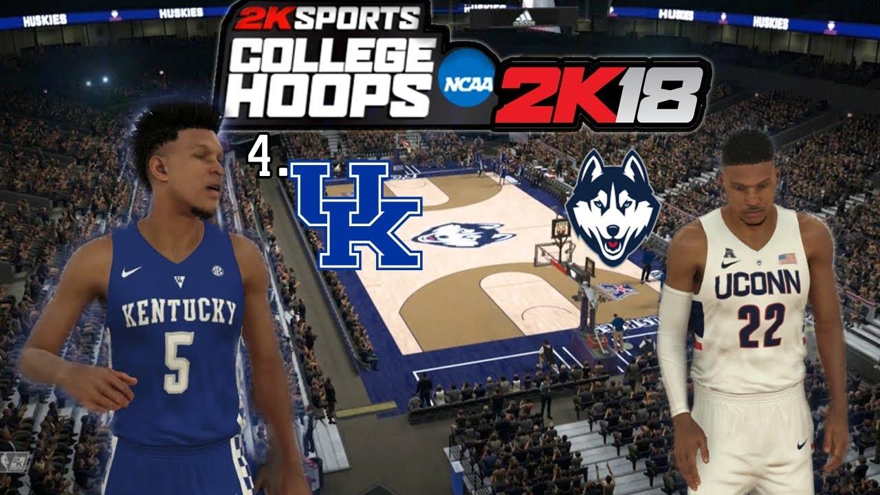 4 Kentucky vs UConn  College Hoops 2K18  NBA 2K18 College Gameplay ... 247a9e927