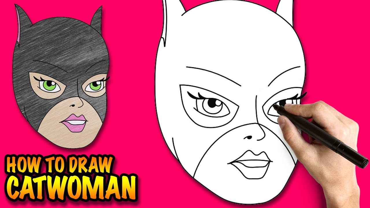 How To Draw Catwoman Easy Step By Step Drawing Lessons For Kids