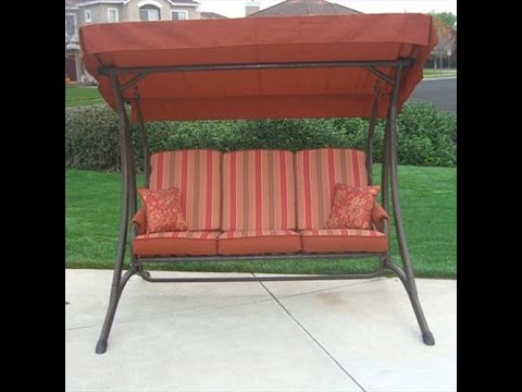 Superbe OSH Patio Swing Cushions, Seat Support And Canopy Fabric Replacement    YouTube