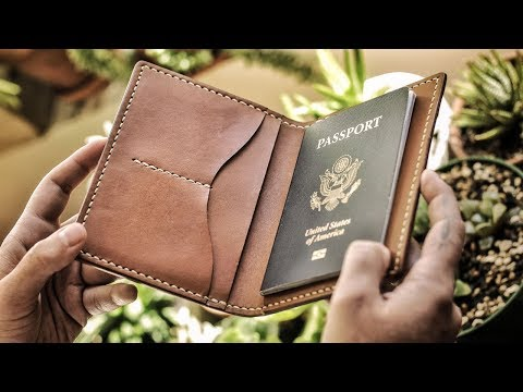 Leather Crafting DIY - Passport Case - FREE PATTERN