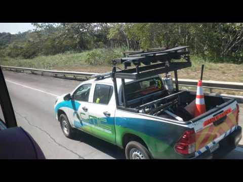 Driving Hwy 9 from Colón toward Panama City, Panama, 2017-02-25