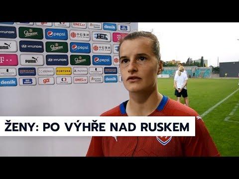 Ženy A | Rozhovory po výhře 2:0 nad Ruskem