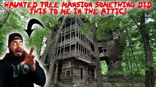 HAUNTED TREE MANSION! *GHOST ACTIVITY IN THE ATTIC CAUGHT ON CAMERA* | MOE SARGI
