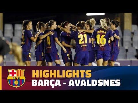 [HIGHLIGHTS] FUTBOL FEM (UWCL): FC Barcelona - Avaldsnes (2-0)