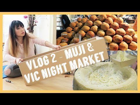 Meliney Vlog 2 - Muji Shelf & Queen Victoria Night Market - Melbourne Australia