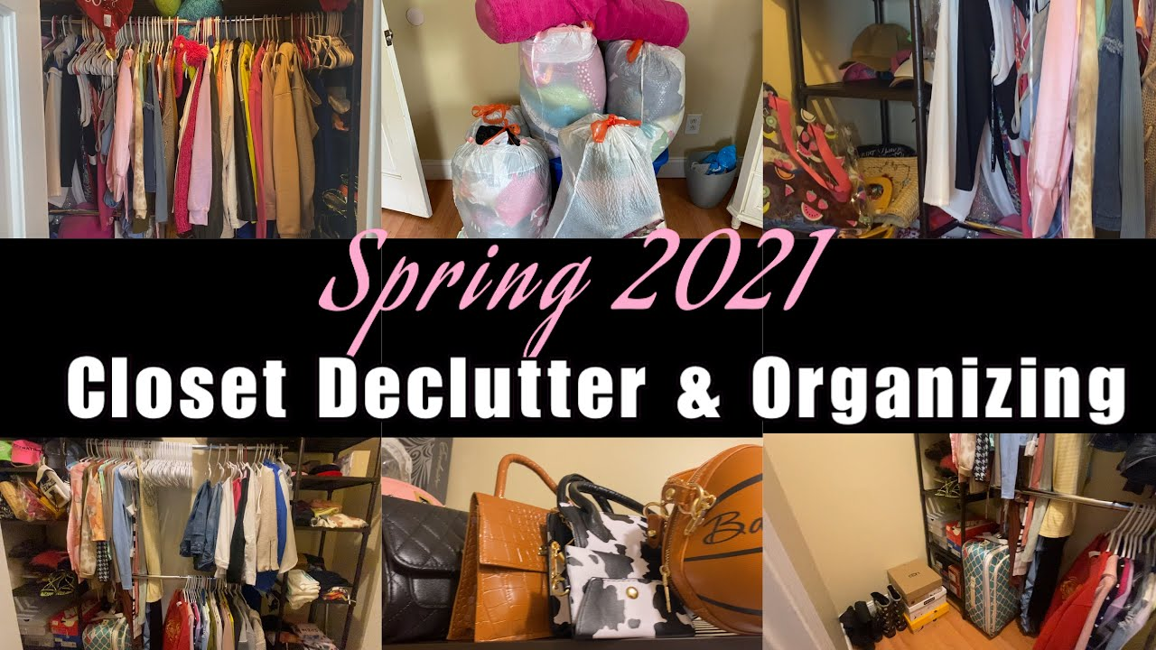 SPRING CLEAN WITH ME   closet clean out, organizing , deep cleaning, etc   Pajon Monye' ?