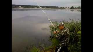 Рыбалка.Ловля карпа на озере. Карп на 5,2кг