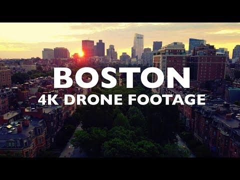 BOSTON Stunning Drone Footage [4K]