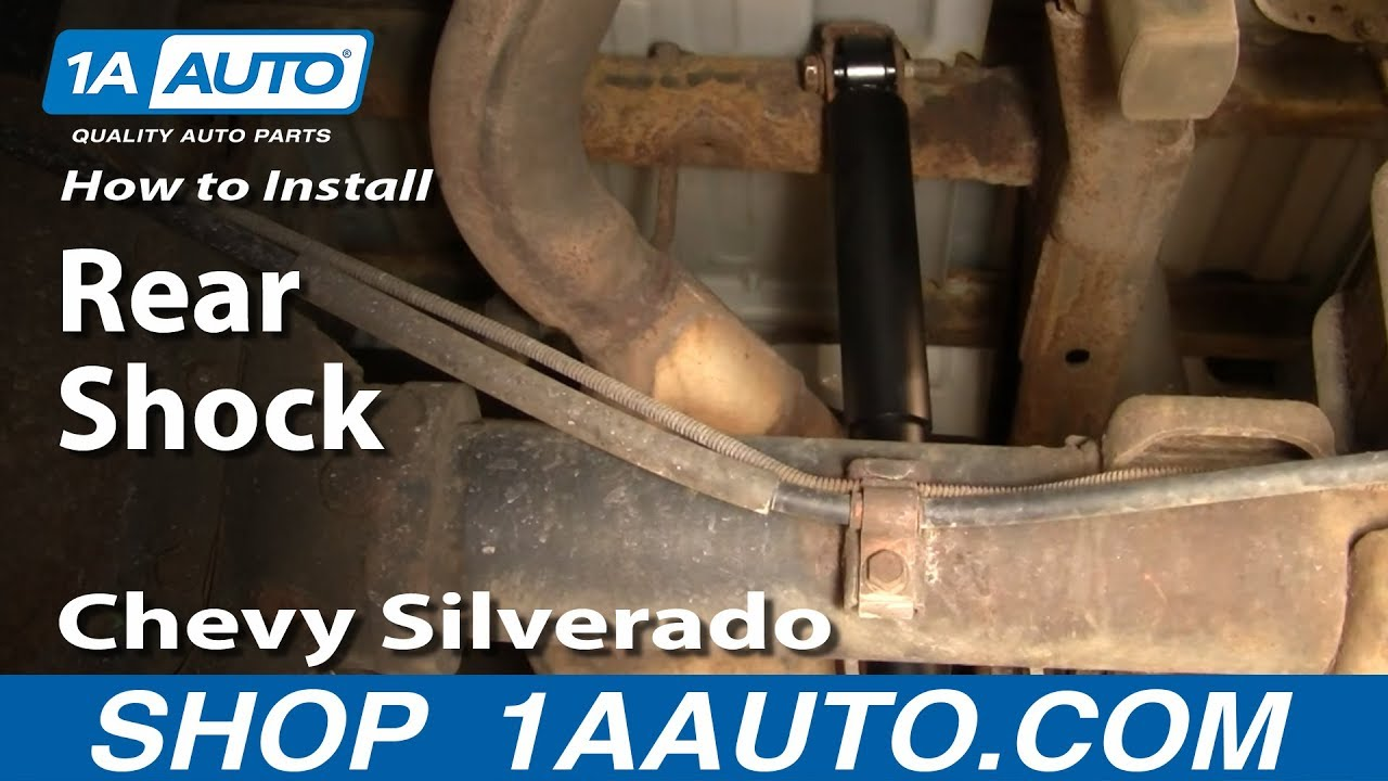 medium resolution of how to install replace rear shocks chevy silverado gmc sierra 00 06 1aauto com youtube