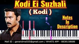 Kodi Ei Suzhali Piano notes | Santhosh Narayanan | Tutorial | Download | keyboard |sheet music|cover
