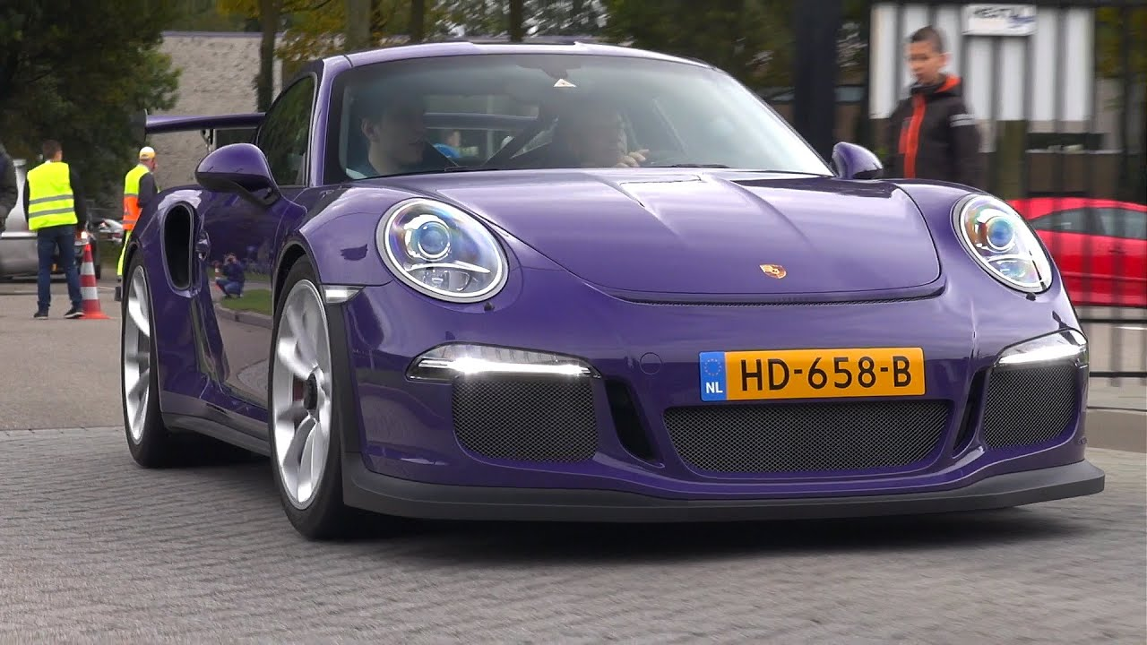 Ultraviolet Porsche 991 GT3 RS , Exhaust Sounds!